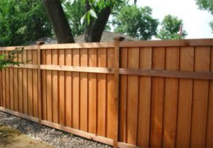 Example cedar wood fence in Fort Collins CO